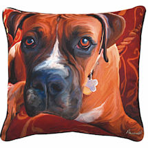 Boxer Portrait Pillow