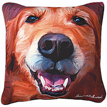 Golden Portrait Pillow
