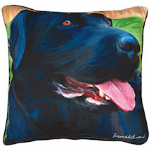 Black Lab Portrait Pillow