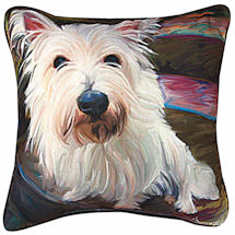 Westie Portrait Pillow