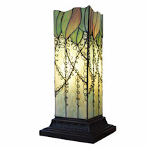 Vining Column Stained Glass Up-Light Lamp