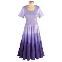 Purple Rainbow Ombre Dress