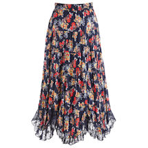 Bed Of Roses Navy Skirt