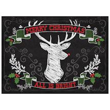 Deer Antler Christmas Mat