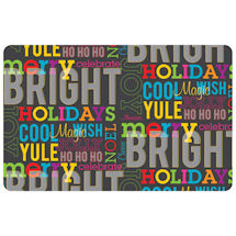 Merry Bright Words Accent Mat