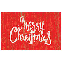 Merry Christmas Accent Mat