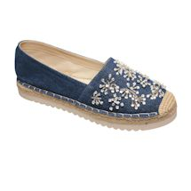 Denim Espadrilles With Bling
