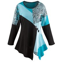 Turquoise Regal Long Sleeve Tunic