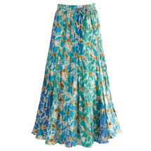 Waves Of Blue Broom Skirt
