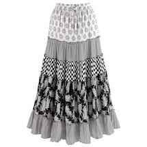 Patchwork Black And White Skirt