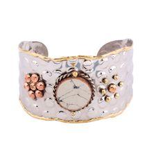 Marble Center Stone Cuff Bracelet