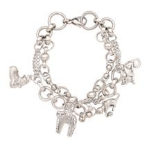 Crazy Cats Charm Bracelet