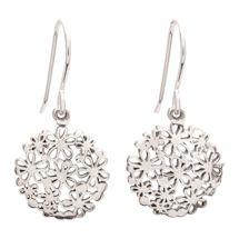 Sterling Hydrangea Earrings