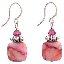 Pink Matrix Jasper Earrings