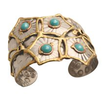 Turquoise Starbursts Cuff Bracelet