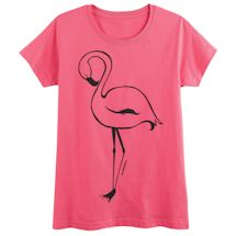 Single Flamingo Ladies' T-Shirt