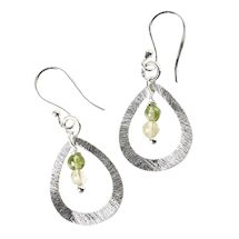 Peridot 'N Citrine Teardrop Earrings