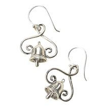 Silver Bell Sterling Earrings