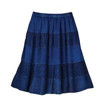 Indigo Boho Skirt