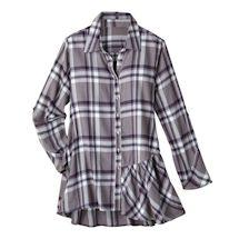 Amethyst Plaid Flannel Big Shirt
