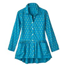 Queen For A Day Turquoise Tunic