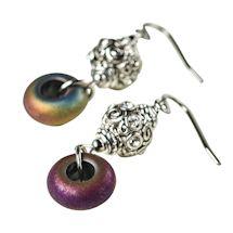 Electroplated Hematite Earrings