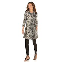 Nimbus Leopard Brushed Knit Dress