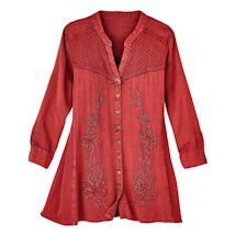 Red Currant Embroidered Shirt