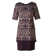 Plum Overprinted Dress