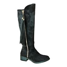 Tall Boot With Stretch Calf And Tassel