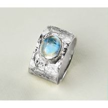 Rolled Sterling 'N Rainbow Moonstone Ring