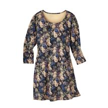 Blue Danube Floral Knit Dress