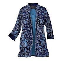 Sophia All-Over Embroidery Velvet Jacket