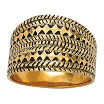 Tribal Patterns Bronze Ring