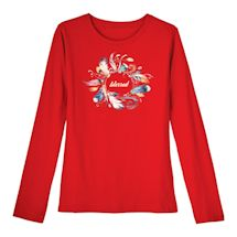 Blessing Wreath Ladies' Long Sleeve T-Shirt