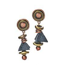 Denim & Brass Jewelry - Earrings
