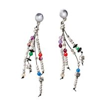 Dancing Beads Post Earrings
