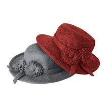 Felted Wool Flower Duet Hat