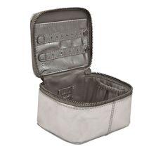 Metallic Leather Jewelry Cube