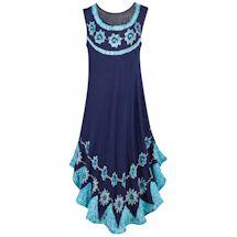 Blue Bali Tie-Dye Sundress