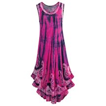 Hot Pink And Navy Bali Sundress