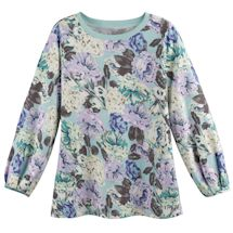 Perfectly Minty Floral Sweatshirt