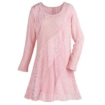 Swirls of Lace & Crochet Long Sleeve Tunic