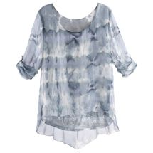 Silky Clouds And Sequins Tunic