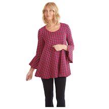 Honeycomb Knit Bell-Sleeve Swing Tunic