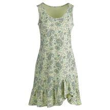 Paisley Cotton Knit Flounce Dress