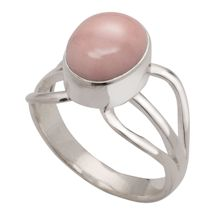 Pink Opal & Sterling Ring