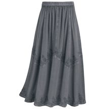 Overdye Embroidered Panel Skirt