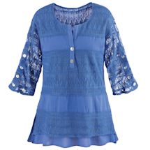 Textured Lacey Tiers Tunic