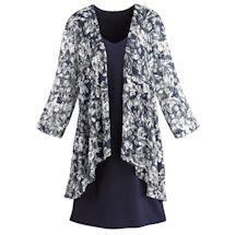 High-Low Self-Jacket Dress